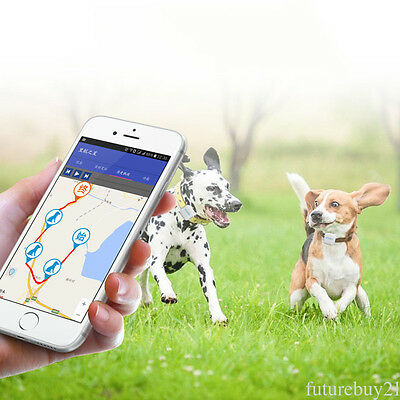 1pc Universal Mini Pets GPS Tracker with Collar Waterproof Real Time Locator