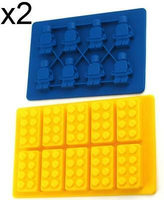 Lego Type Brick Man Figure Silicone Chocolate Ice Mold Mould Party Novelty MISB