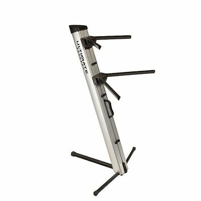Ultimate Support AX48PRO Column Double Keyboard Or Equipment Stand (silver)