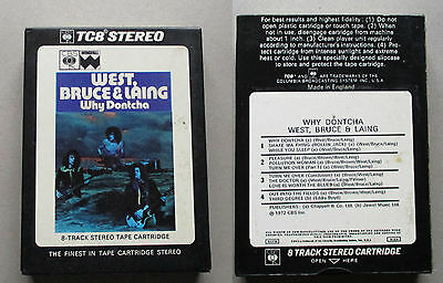 West, Bruce & Laing - Why Dontcha - 8-Track Tape  42-65314 =1972