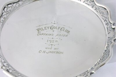Silver Plate Golf Trophy Tray Filey Golf Club 1928. Antique / Vintage