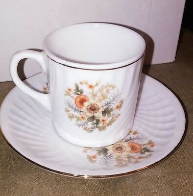Chinese Demitasse cup & saucer floral