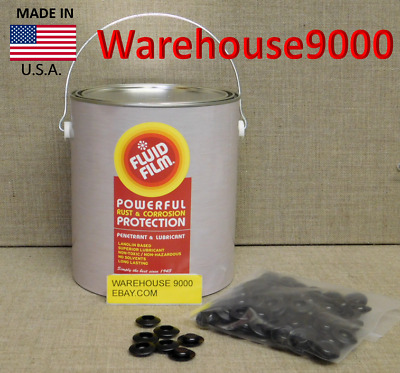 1 Gallon of Fluid Film NAS Rust Prevention Undercoating With 100 Rust Plugs