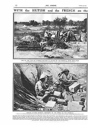 1915 Antique Print - Ww1- With The British And French At Gallipoli, 2 Pages