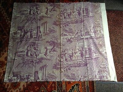 Early 19 Th Century French Toile De Jouy Panel.dancing Bear.