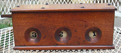 Vintage early 1900's Tavern Casino Dice & Numbers Gaming Gambling WOOD Machine