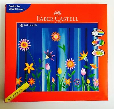 50 x Faber-Castell Oil Pastels Set Oil Pastel Crayons. Super Quality Low Price.