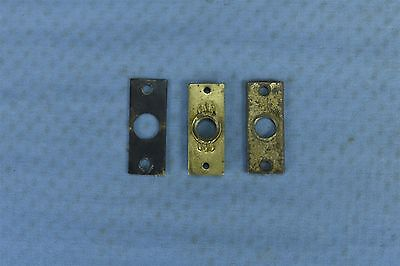 Antique LOT of 3 BRASS FILE CABINET ROD HOLDERS HARDWARE SALVAGE PARTS #03553