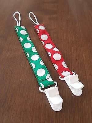 Holiday Pacifier clip set