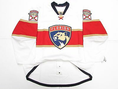 Florida Panthers Authentic Away Team Issued Reebok Edge 2.0 7287 Jersey Size 52