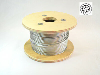 1/8 Cable Railing 1*19 Stainless Steel 316 L Polished, 100 Ft