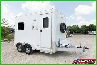IN STOCK ATC ALUMINUM 7 X 12 Enclosed Fiber Optic Splicing Trailer Electrical