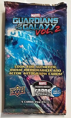New Marvel Guardians Of The Galaxy Vol 2 Walmart Exclusive Upper Deck Cards Pack