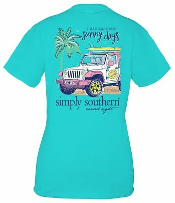 Simply Southern I Was Made For Sunny Days Jeep Cotton Tee Shirt