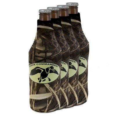 4-Pack: Duck Commander Insulated Camo Brown Bottle Sleeve Koozie