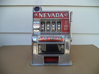 Nevada Table Top Slot Machine - Works Great