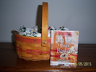 """Longaberger 1999 Mothers Day """"tea For Two""""  Basket Combo ~ New, Unused"""