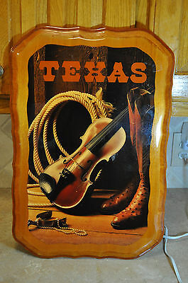 Vintage Texas Cowboy Country Western Decorative Sign Plaque For Bar or Man Cave