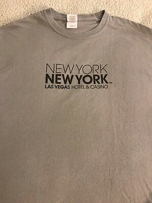 New York New York Hotel & Casino Las Vegas T-Shirt Large EUC
