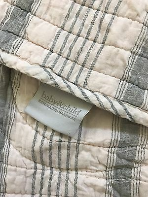 Restoration Hardware Baby 102142 Washed Organic Linen Toddler Quilt