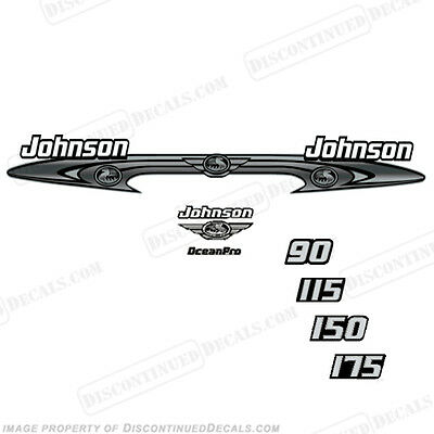 Johnson 90-175 OceanPro Decals - Outboard Decal Kit - You Choose HP! 2001-2005