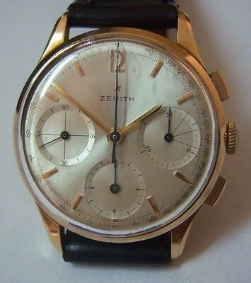 Zenith chronograph 18K solid gold cal.146 H