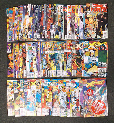 Marvel Collection X-Force Comic Book Lot of 88 Total Issues Mostly NM+ #11 NM/M