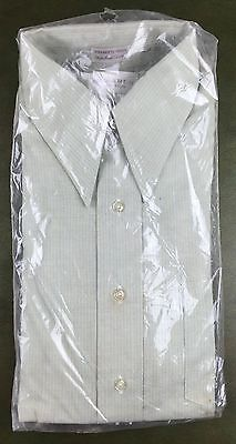 Vintage Mens M/L 70s Edwards Shirtmakers Long Sleeve NOS Dress Shirt 15x33