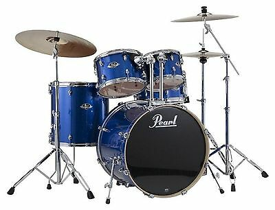 Pearl Export 5 Piece Drum Kit Shell Pack EXX725FPC702 BLUE SPARKLE