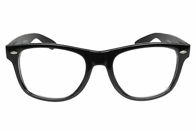 Fake Glasses Nerd Buddy Holly Classic Thick Black Frame Clear Lens Spring Hinge