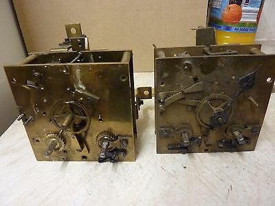 2 ANTIQUE FRENCH CLOCK  MOVEMENTS - SPARES or REPAIR