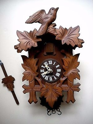 Vintage Cuckoo Clock Germany w/o Weights - Selling for Parts/Repair