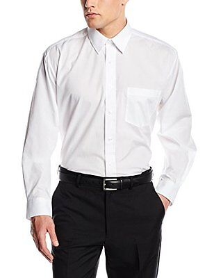 (TG. Small) White Premier Workwear Poplin Long Sleeve Shirt, Camicia Uomo, White