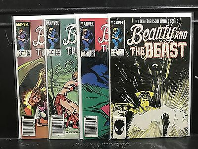 COMPLETE Beauty and the Beast #1 2 3 4 (1984 Marvel) Combined Shipping Deal! D