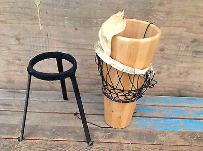 Vintage World Drums Oregon Country Fair Ashiko Style Rope Drum with Stand