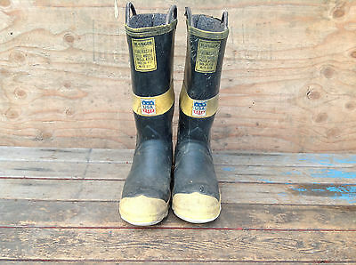 Vintage Ranger Rubber Co Firemaster Steel Midsole Insulated Boots Size 10 USA