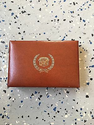 Nos Cadillac Dealer Promotional Playing Cards With Case