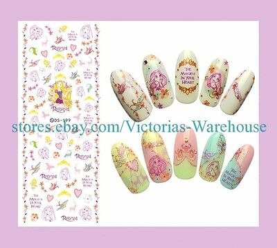 Us Seller Online Beauty Supply Love Floral Girl Nail Art Water