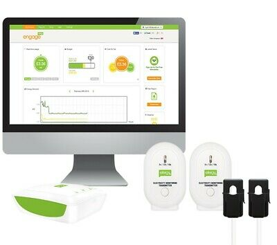 Electricity Energy Monitor Sockets Efergy Engage Solar Kit - MEHSK