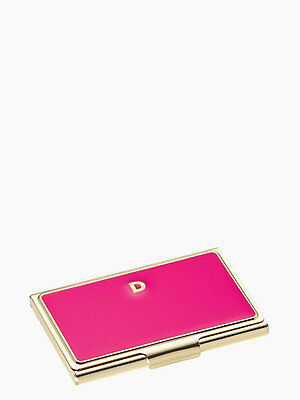 Kate Spade New York One in a Million Pink Initial Business Card Holders D NEW