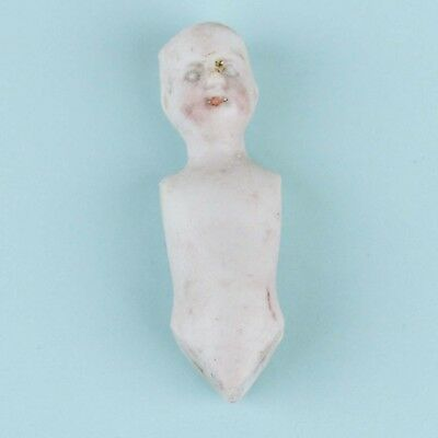 Antique German All Bisque Mini Doll Body Hand Painted