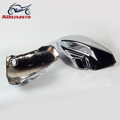Chrome Left Right Battery Fairing Cover for Suzuki Boulevard Voluisa C50 VL800