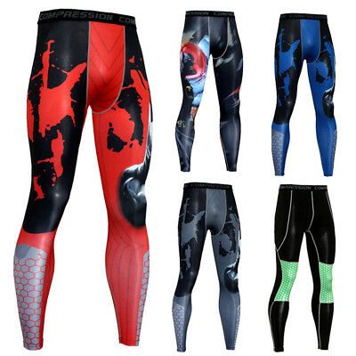 Men's Athletic Thermal Compression Pants Gym Workout Long Running Tights Dri-fit