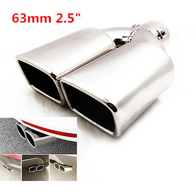 """2.5"""" Stainless Steel Inlet Tail Rear Pipe Tip Muffler Cover Universal Hot Sale"""