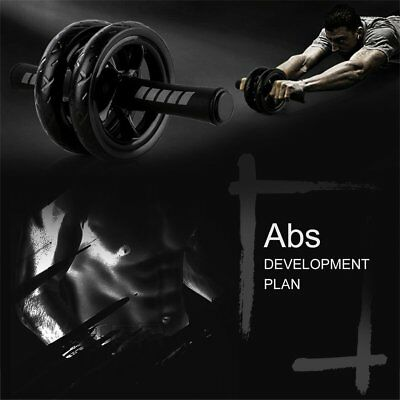 Ab Wheel Roller - Total Body Workout Knee Mat Fitness Abdominal Core Carver F5