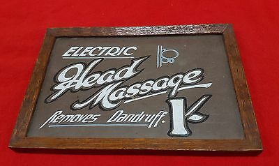 Old Framed Advertisement For Electric Head Massage