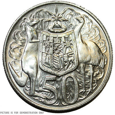 1966 Australian Round Silver 50 Cent Coins - 80% Silver