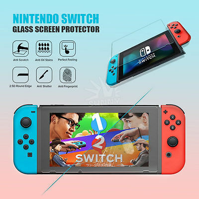 Tempered Glass Screen Protector for Nintendo Switch Film Shield Sheet 2017