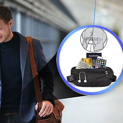Hidden Travel Belt Wallet Passport Holder with RFID Sleeves Set for Men & Women