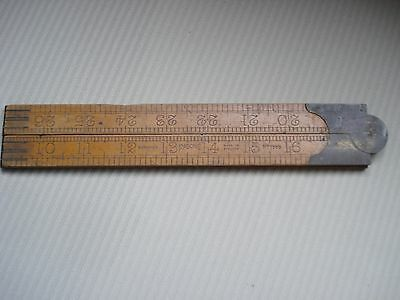 Vintage Rabone 3foot Folding Wooden Rule - good condition